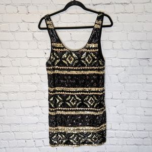 Free People Sequin Tank Dress Mini Aztec Small